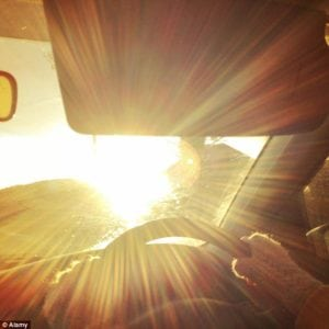 blue light blocking lenses can eliminate blinding glare from sun through car windshield