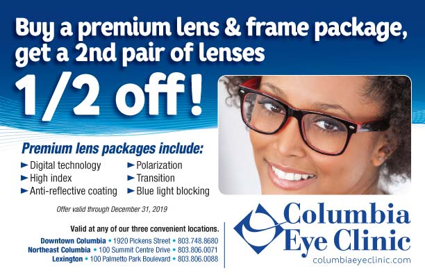 coupon for buy a premium lens & frame package, get a 2nd pair of lenses 1/2 off