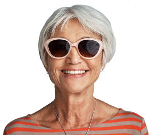 Senior woman wearing sunglasses